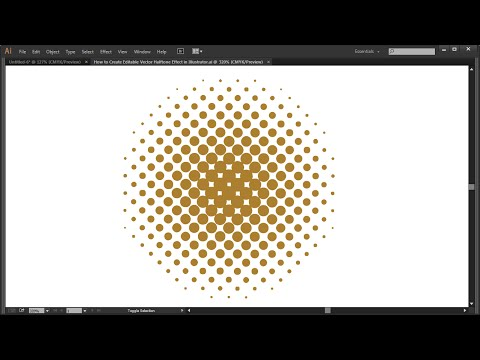 How to Create Editable Vector Halftone Effect in Illustrator