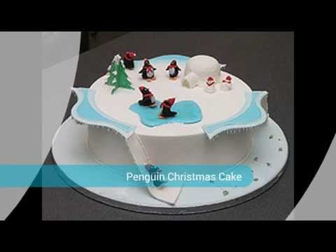 Decoration Penguin Christmas Cake