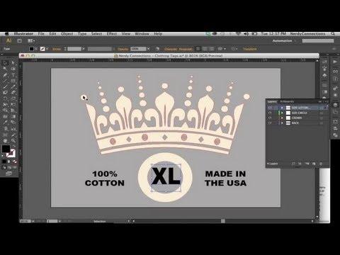 Making Clothing Tags in Illustrator : Digital Imaging & Graphic Design