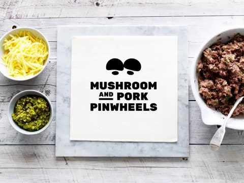Mushrooms & Pork Pinwheels