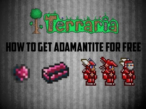 Terraria ios 1.2 | How to get Adamantite for FREE