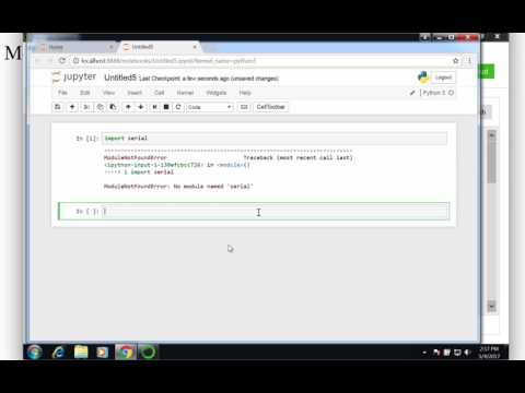 Python for Engineers Part 4: Installing the pyserial module using Anaconda