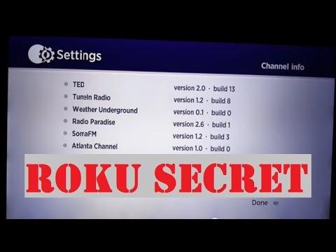 Roku Tricks Hack: How To View Secret Build Screen