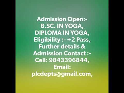 Diploma in Health inspector vs yoga in Tamilnadu India