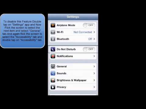 HOW TO ENABLE OR DISABLE VOICEOVER FEATURE IN IOS 6 (IPHONE IPOD TOUCH)