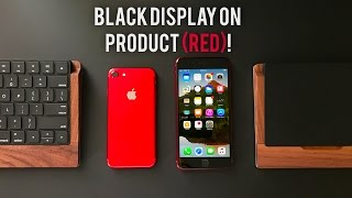 Black Display on a RED iPhone 7! (with Touch ID)