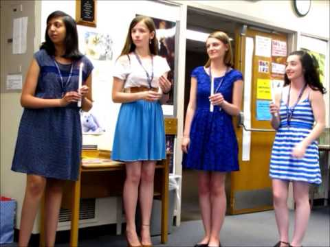 French National Honor Society induction May 27 2014