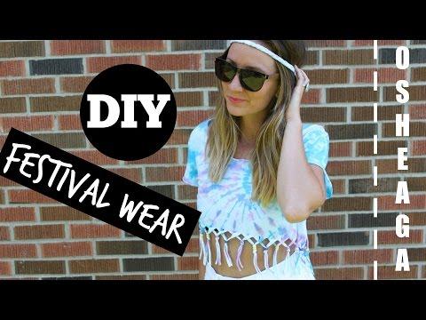 DIY Festival Wear - Tie Dye Fringe Crop Top and Braided Headband