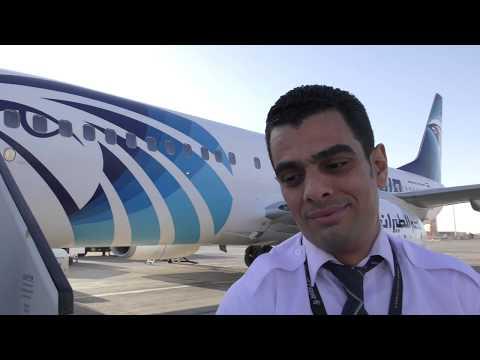 Boarding Egyptair Flight MS95 Aswan to Cairo International Airport, Egypt