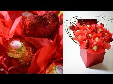 Ramo de chocolates facil 🍫 DIY ⚘chocolate bouquet for valentines day ❤