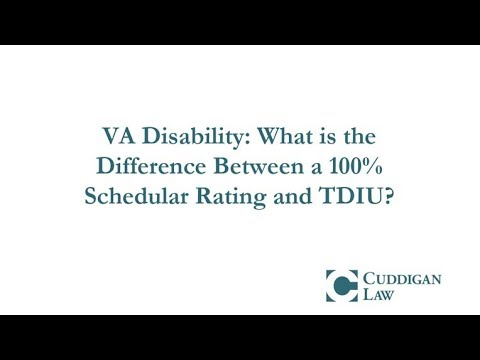 VA Disability: What is the Difference Between a 100% Schedular Rating and TDIU?