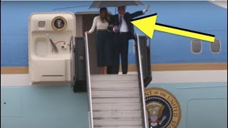 AS TRUMP GOT OFF PLANE FROM PARIS, EVERY REPORTER NOTICED AMAZING NEW THING ABOUT HIM!