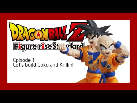 STOP MOTION: BANDAI DRAGON BALL Z Figure-rise Standard Episode 1: Let's build Goku and Krillin!