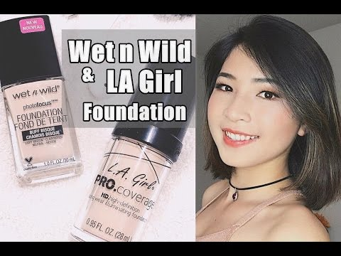 Review & So Sánh  Wet n Wild Photo Focus & L.A Girl Pro Coverage Foundation