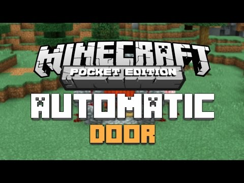 How to Make an Automatic Redstone Door in Minecraft PE 0.13.0