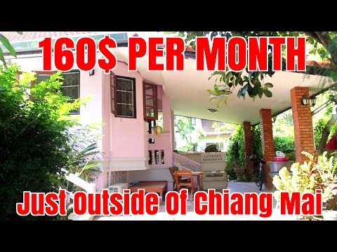 Cheap Rent House Tour Chiang Mai Thailand Under $200 / Month