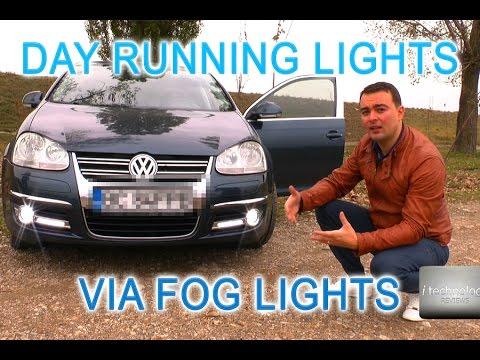 OEM Day running lights via fog lights without any led drl; VCDS coding for Vw, Skoda, Audi