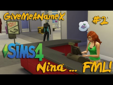 The Sims 4: Store Employee .. Nina [2]