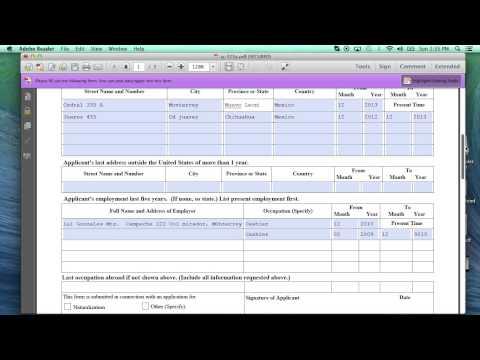 Como llenar la forma para USCIS G-325A (K1 Visa)