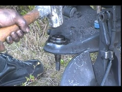 How to remove the lower control arm ball joint fast