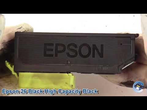 Epson 26 Black Setup vs Standard Capacity & High Capacity Cartridges