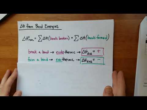 Calculating Change in Enthalpy of a Reaction from Bond Energies