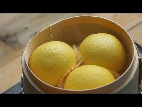 How to make Salted Egg Yolk Custard Steam Bun!!! (Liu Sha Bao)  如何制作黄金流沙包!!!