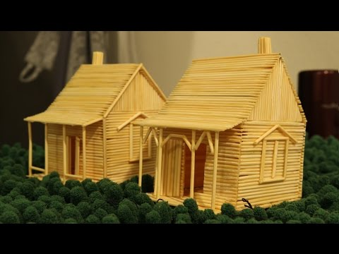 How to make a Toothpick House - Making toy