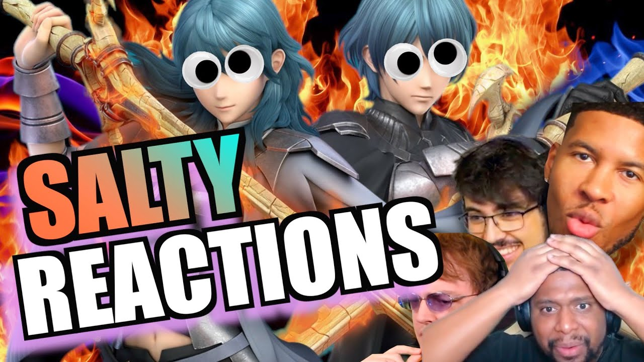 Salty Reactions to Byleth Compilation- Smash Bros. Ultimate