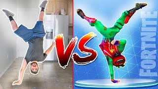 FORTNITE Dance CHALLENGE ( All Dances in REAL LIFE )