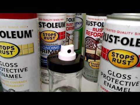 How to avoid clogged spray paint nozzles -Rustoleum