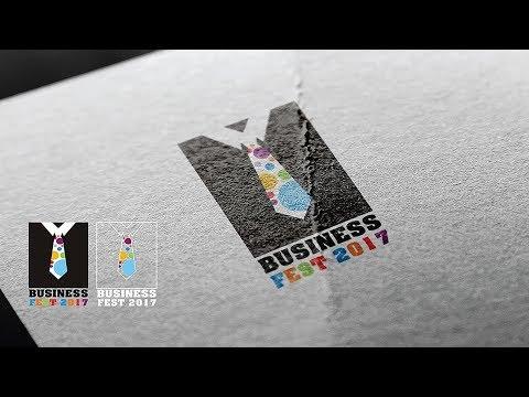 How to Design a Business Festival logo - Logo Design Idea - Logo Process