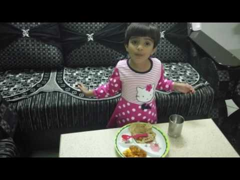 How to encourage children to eat food and roti