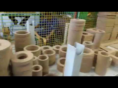 AOKE gasket cutting machine using in clients company cut cork gasket