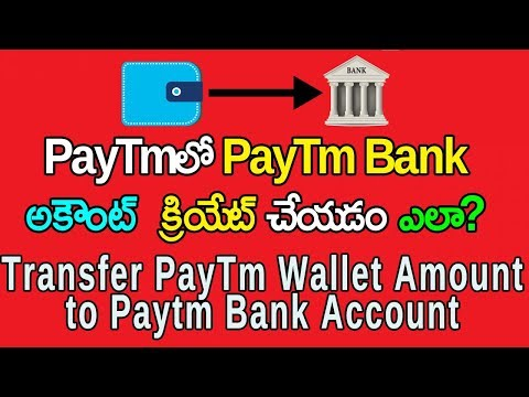 Create PayTm Bank Account And Transfer Wallet Amount To Paytm Bank Account | Telugu Tech Trends