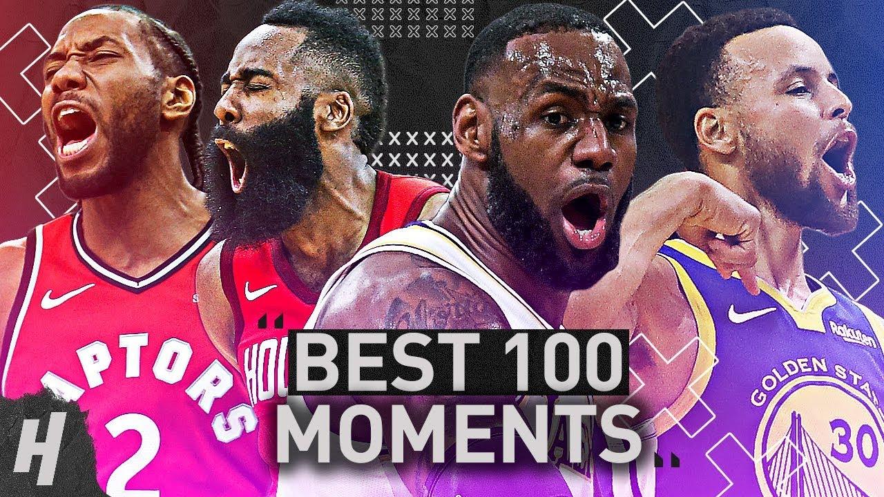 TOP 100 MOMENTS OF THE 2018-19 NBA SEASON!!!