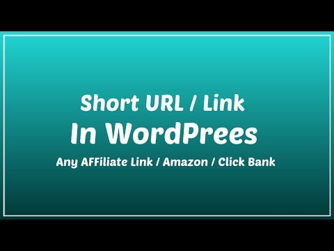 How To Create SHORTENER URL In WordPress For Any Link