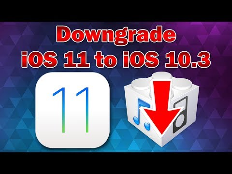 How to Downgrade iOS 11 Beta to iOS 10.3.3 / 10.3.2 on iPhone, iPod touch or iPad