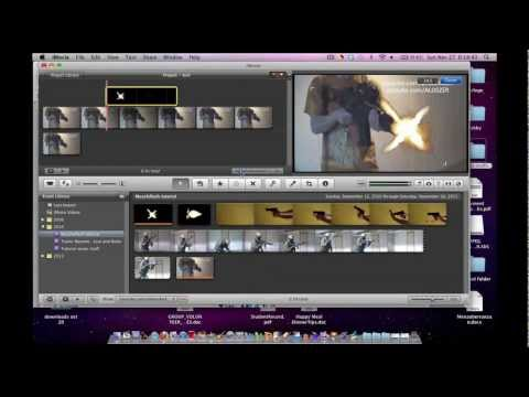 Removing Black Backgrounds from Muzzle Flashes iMovie Tutorial