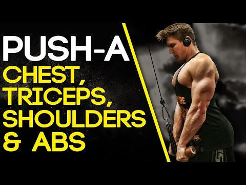 PUSH-A: CHEST, TRICEPS, SHOULDERS & ABS (#SHREDCHALLENGE)