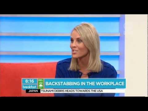 Suzie Plush - Backstabbing in the Workplace (Breakfast, Channel 10, Feburary 2012)