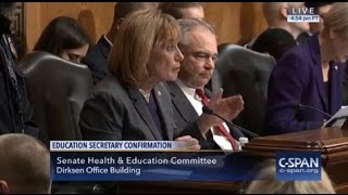 DeVos Refuses to Answer Senator Hassan