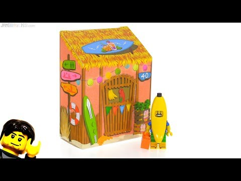 LEGO Party Banana Juice Bar minifig & package reviewed! 5005250
