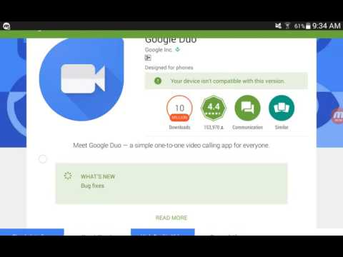 How to Download Google Duo on Incompatible Devices!!