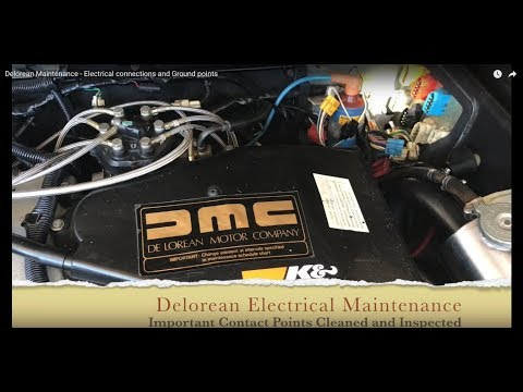 Delorean Maintenance - Electrical connections and Ground points