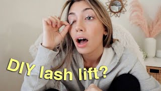 I tried an AT HOME LASH LIFT...by myself...here's what happened