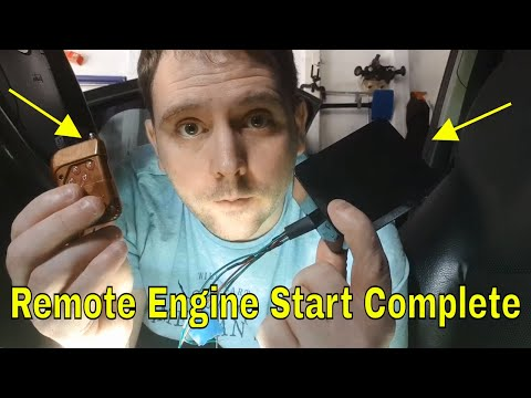 Universal Remote Engine Start install completed Ford Mondeo MK3