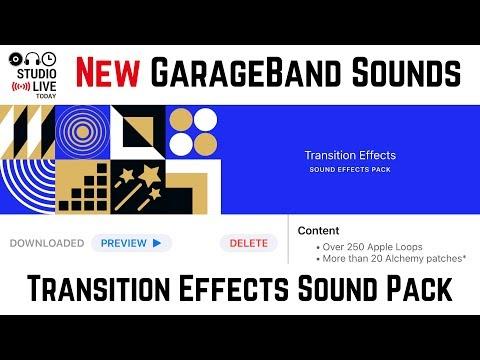 New GarageBand iOS update - Transition Effects (iPhone/iPad)
