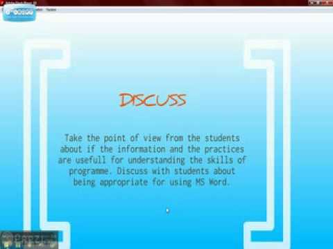 Presentation (Instructional Plan for Teaching MS WORD) part2.flv