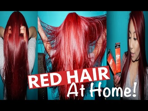 How To Dye Hair Red WITHOUT Using Bleach | Loreal HiColor Hi-Lift Red Magenta